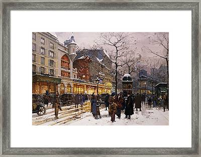 Matinee Au Moulin Rouge Paris Framed Print by Eugene Galien-Laloue