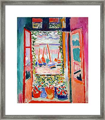 Matisse's Open Window At Collioure Framed Print by Cora Wandel