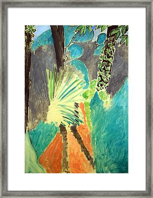 Matisse's Palm Leaf In Tangier Framed Print by Cora Wandel