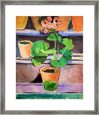 Matisse's Pot Of Geraniums Framed Print by Cora Wandel