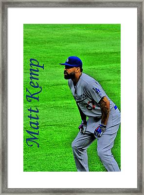 Matt Kemp Framed Print by Sonja Dover