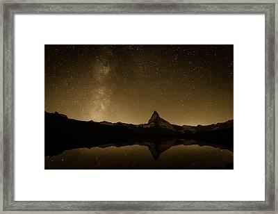 Matterhorn And Milky Way Framed Print by Konstantin Dikovsky