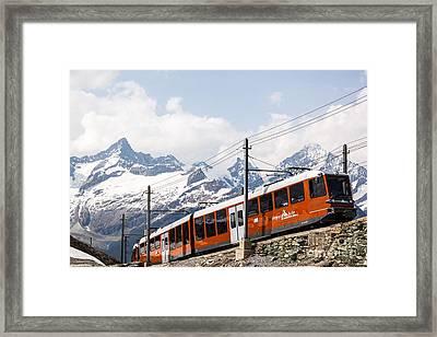Matterhorn Railway Zermatt Switzerland Framed Print by Matteo Colombo