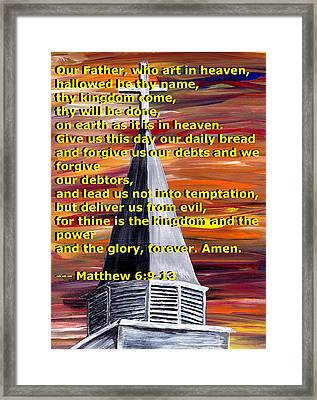 Matthew 6  Framed Print by Mark Moore