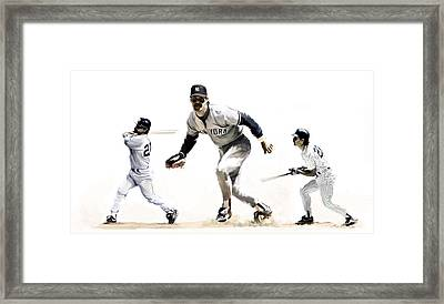 Mattingly Don Mattingly Framed Print by Iconic Images Art Gallery David Pucciarelli