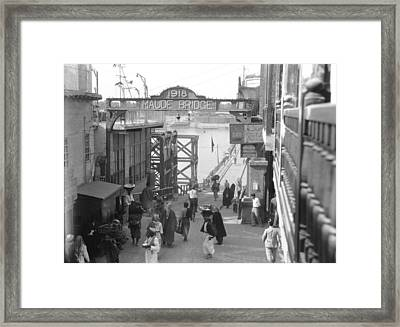 Maude Bridge In Baghdad Framed Print by Underwood Archives