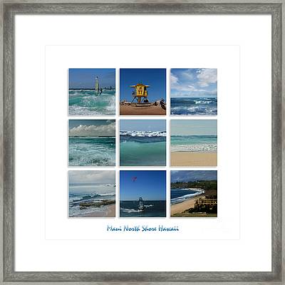 Maui North Shore Hawaii Framed Print by Sharon Mau
