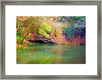 Maui Skinny Dipping Framed Print by Sherry Dooley