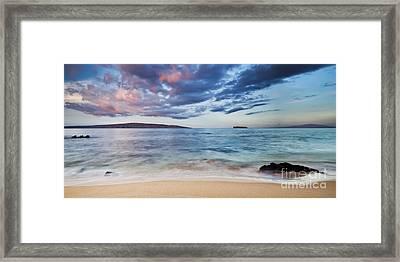 Maui Sunrise With Kahoolawe Molokini And Lanai Framed Print by Dustin K Ryan