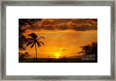 Maui Sunset Dream Framed Print by Peggy Hughes