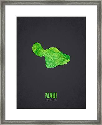 Maui The Valley Isle Framed Print by Aged Pixel