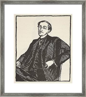 Maurice Barres, Copy By Boris Framed Print by Jacques-Emile Blanche