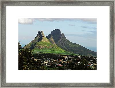 Mauritius, Floreal, Houses Framed Print by Anthony Asael