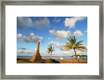 Mauritius, Mahebourg, View Of A Built Framed Print by Anthony Asael