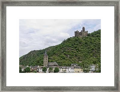 Maus Castle In Germany Framed Print by Oscar Gutierrez