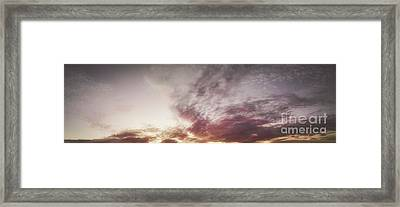 Mauve Skies Framed Print by Holly Martin