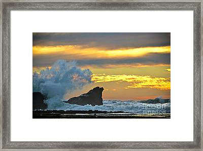 Mavericks - Princeton By The Sea Framed Print by Amy Fearn