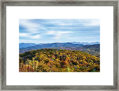 Max Patch Bald Framed Print by John Haldane