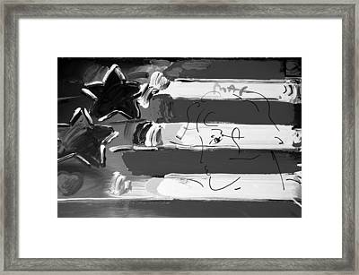 Max Stars And Stripes In Black And White Framed Print by Rob Hans