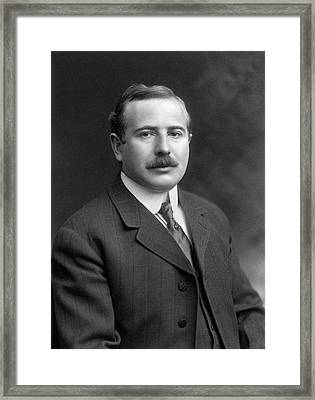 Max Wallerstein Framed Print by Williams Haynes Portrait Collection, Chemists� Club Archives/chemical Heritage Foundation