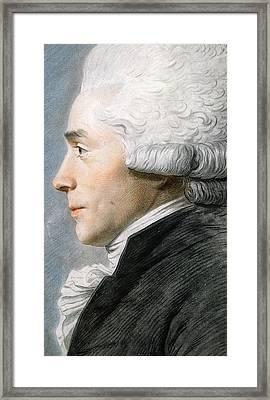 Maximilien De Robespierre  Framed Print by Joseph Boze