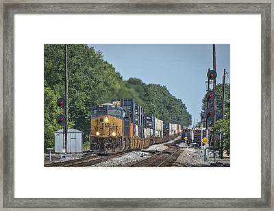May 19 2014 - Csx Q028 At Guthrie Ky Framed Print by Jim Pearson