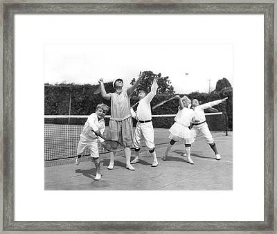 May Bundy And Her Proteges Framed Print by Underwood Archives