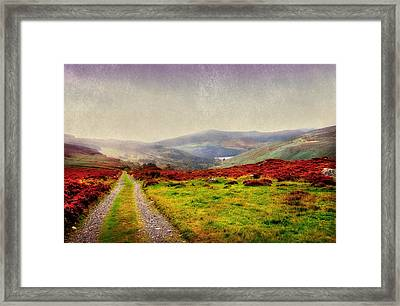 May It Be Your Journey On. Wicklow Mountains. Ireland Framed Print by Jenny Rainbow