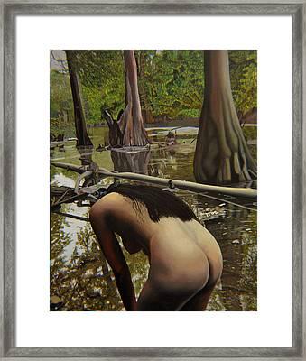 May Morning Arkansas River  2 Framed Print by Thu Nguyen