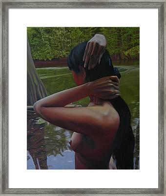May Morning Arkansas River 6 Framed Print by Thu Nguyen