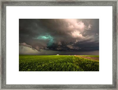 May Thunderstorm Framed Print by Sean Ramsey