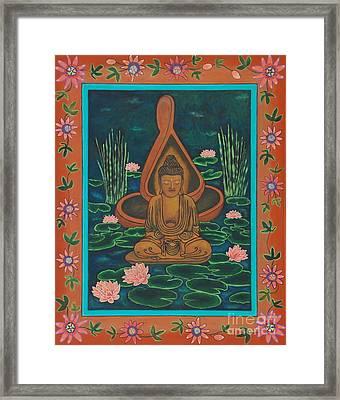May We Live Peace Framed Print by Jennifer Kline