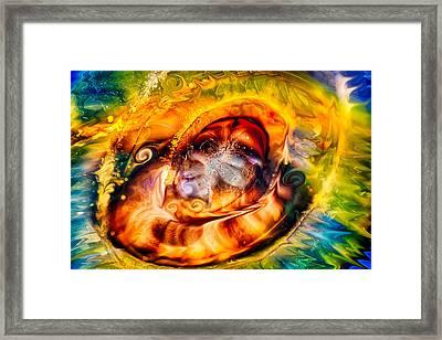 Mayan God Framed Print by Omaste Witkowski