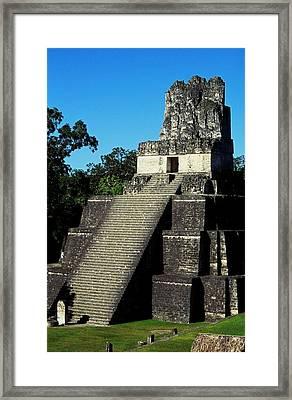 Mayan Ruins - Tikal Guatemala Framed Print by Juergen Weiss