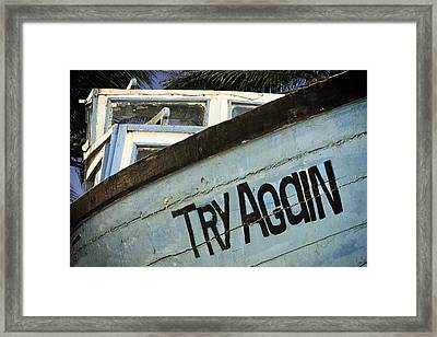 Maybe Next Time Framed Print by Andrew Soundarajan