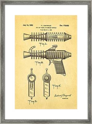 Maywald Toy Cap Gun Patent Art 1953 Framed Print by Ian Monk