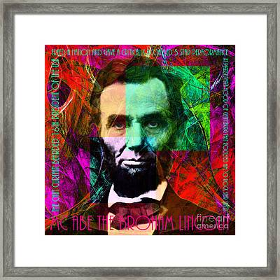 Mc Abe The Broham Lincoln 20140217m28 Framed Print by Wingsdomain Art and Photography