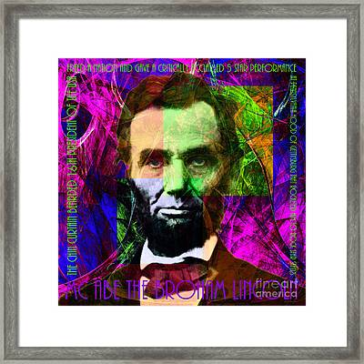 Mc Abe The Broham Lincoln 20140217m88 Framed Print by Wingsdomain Art and Photography