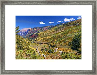 Mcclure Pass Scenic Overlook Framed Print by Allen Beatty