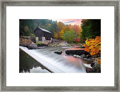 Mcconnell's Mill Fall  Framed Print by Emmanuel Panagiotakis