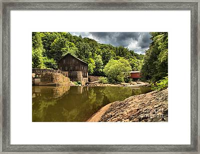 Mcconnells Mill Landscape Framed Print by Adam Jewell