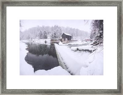 Mcconnell's Mill Winter  Framed Print by Emmanuel Panagiotakis