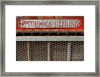 Mccormick Deering  Framed Print by Olivier Le Queinec