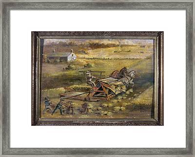 Mccormick Reaper, 1884 Framed Print by Granger
