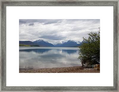 Mcdonald Lake - Apgar Framed Print by June Hatleberg Photography