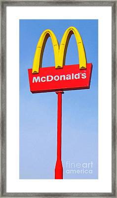 Mcdonald's - Painterly - V1 Framed Print by Wingsdomain Art and Photography