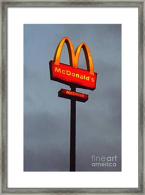 Mcdonald's - Painterly - V2b Framed Print by Wingsdomain Art and Photography
