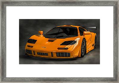 Mclaren F1 Lm Framed Print by Louis Ferreira