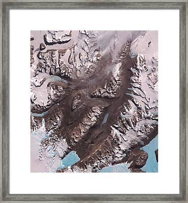 Mcmurdo Dry Valleys Framed Print by Nasa/gsfc/meti/japan Space Systems/u.s.,japan Aster Science Team