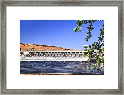 Mcnary  Hydroelectric Dam Framed Print by Robert Bales